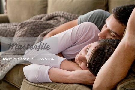Hugs in sofa