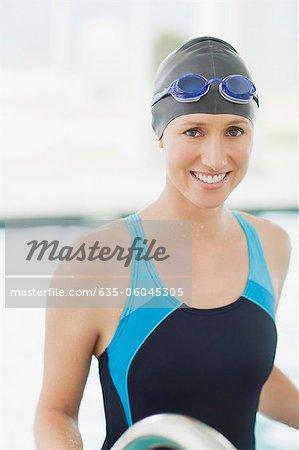 Portrait of smiling swimmer