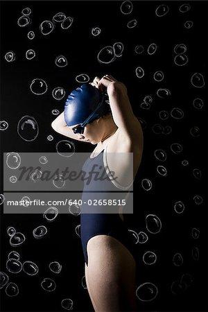 underwater swimmer