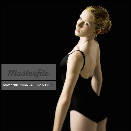 f34e1a50d Teenage ballerina in leotard - Stock Photo - Masterfile - Premium ...