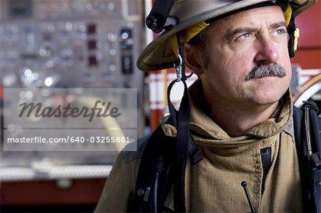 Closeup of fire chief