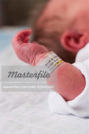 Newborn baby closeup