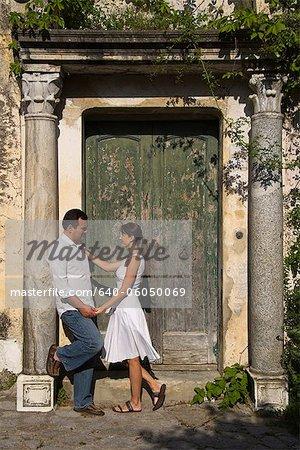 Italy, Ravello, Couple flirting