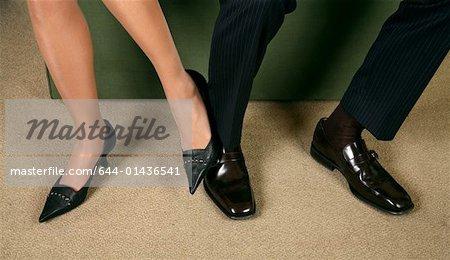 men playing footsie