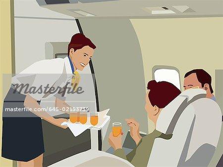 Flight Attendant Serving