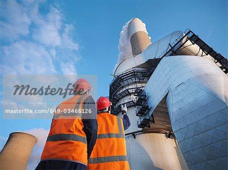 Workers At Desulphurisation Plant