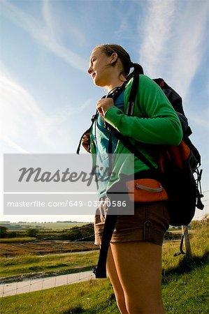 Portrait of female hiker