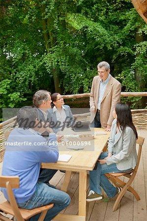 Businessman talking in meeting
