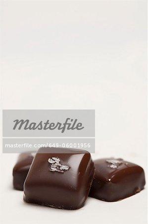 Close up of handmade chocolates