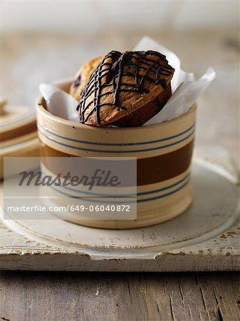Various muffins in jar