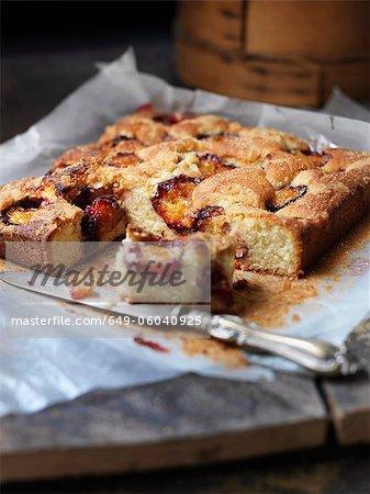 Tray of baked fruit tart