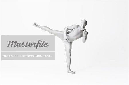 Man in bodysuit posing