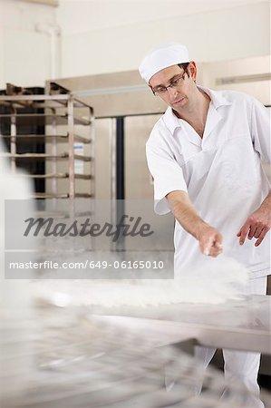 Chef baking in kitchen