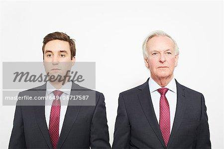 Businessmen standing together