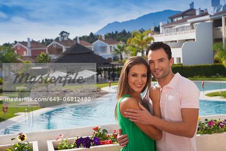 Young couple at holiday resort