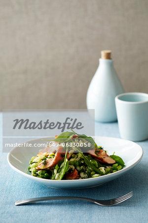 Salmon and risoni salad