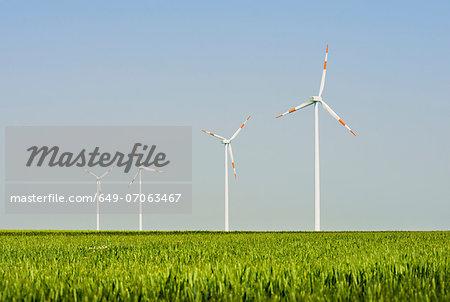 Wind turbines, Selfkant, Germany
