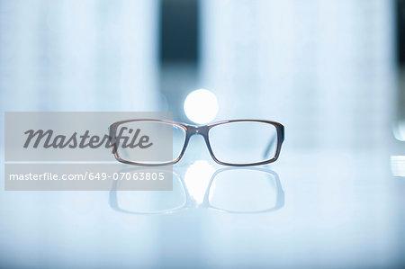A pair of lone eyeglasses