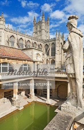 Roman baths, Bath, Somerset, UK