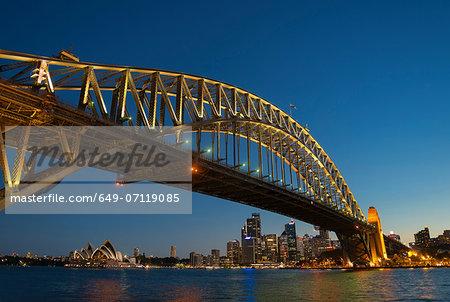 Sydney Harbor Bridge and waterfront, Sydney, Australia