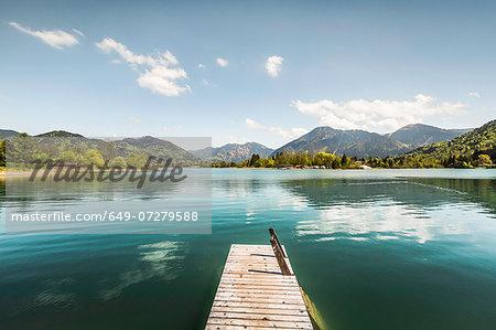 Pier on Lake Tegernsee, Bavaria, Germany