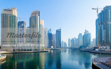 Dubai Marina at daytime, United Arab Emirates