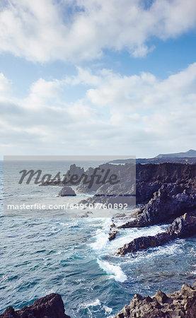 Ocean waves and coast, Lanzarote, Canary Islands, Spain