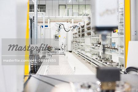Factory conveyer belt on production line