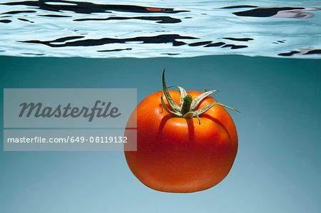 Tomato underwater