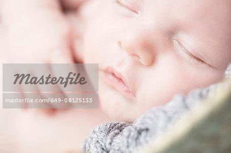 Close up of baby sleeping