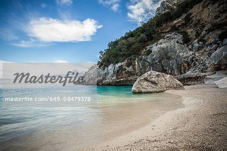 Coastline and rocky beach, Ogliastra, Sardinia, Italy