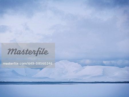 Winter ocean landscape