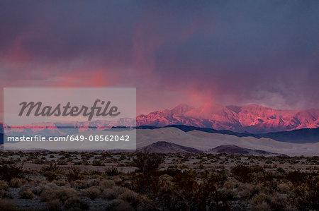Mountains in dry desert landscape