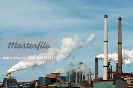 Steelwork chimneys , IJmuiden, Netherlands
