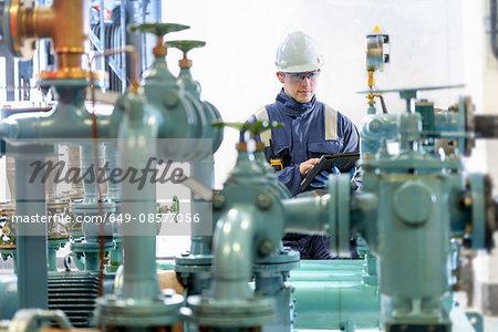 Apprentice worker in hydroelectric power station