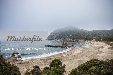 Beach and coastline, Costa rei, Sardinia, Italia