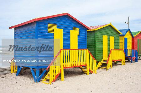 Beach huts, Muizenberg, Western Cape, South Africa