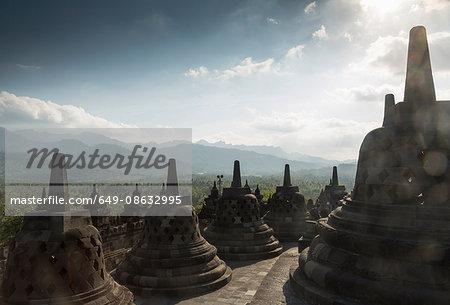 Rooftop, The Buddhist Temple of Borobudur, Java, Indonesia