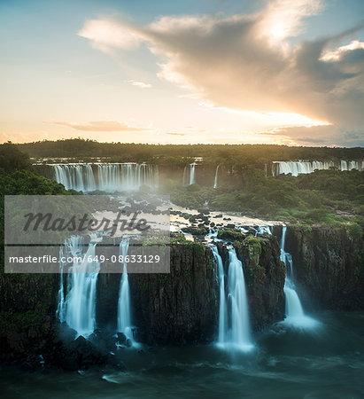 Elevated view of Iguazu falls, Parana, Brazil