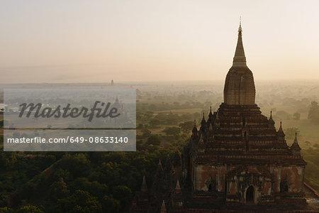 Temple at sunrise, Bagan, Burma