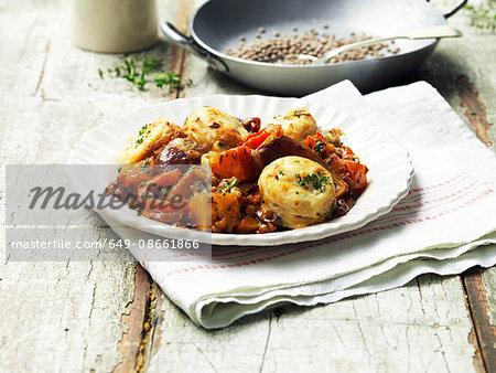 Root vegetable cobbler