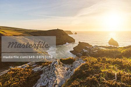 Cliffs and ocean, Boscastle, Cornwall, UK