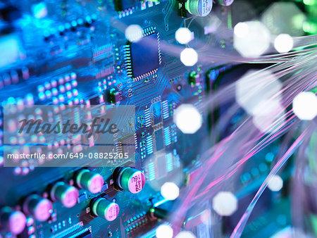 Fibre optics shooting past electronics of broadband hub