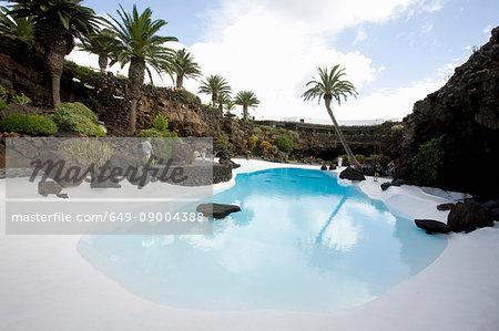 Pool, Jameos del Agua, Lanzarote, Canary Islands, Tenerife, Spain