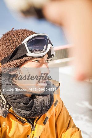 Portrait of male skier Kitzbuhel, Tyrol, Austria