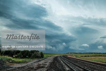 Tornadic supercell beginning to dissipate after producing tornados, Scottsbluff, Nebraska, USA