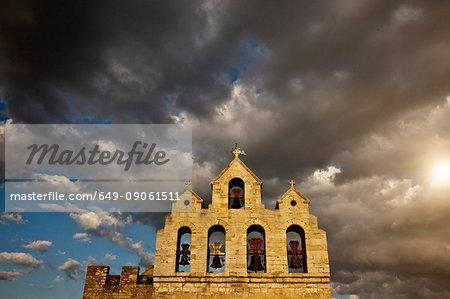 Belltower of Church of Saintes Maries de la Mer,  Camargue, France