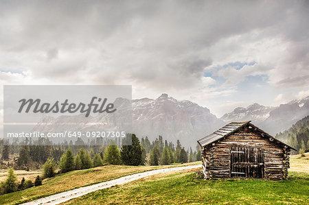 Log cabin, Alta Badia South Tyrol, Italy