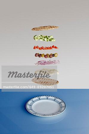 Greek sandwich deconstructed