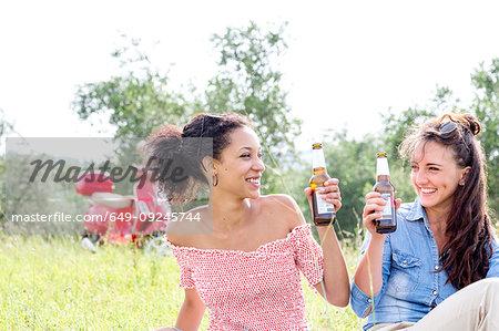 Friends enjoying picnic